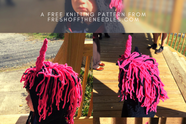 Enchanted unicorn scarf free knitting pattern from fresh off the needles